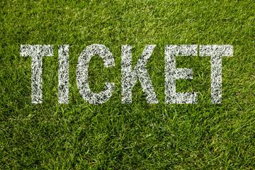 ticket text auf rasen