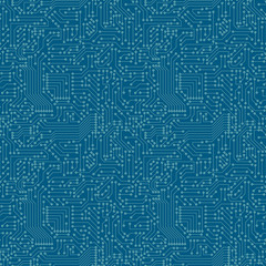Seamless pattern. Computer circuit board.