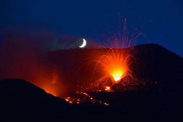 Photo sur Aluminium Volcan Volcano Etna, sicily, Italy 2014