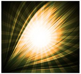 Abstract yellow background Beautiful rays of light