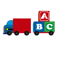 abstract truck toy on a white background