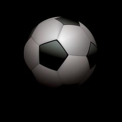 Realistic Soccer Ball Football on Black Illustration