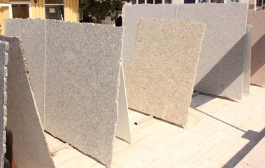 Slabs of marble for the construction industry