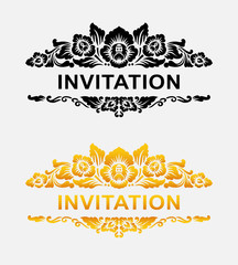 Invitation floral ornament decoration element