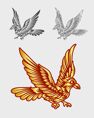 Flying bird ornament decoration