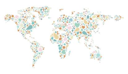 vintage pattern world map on white background vector illustratio