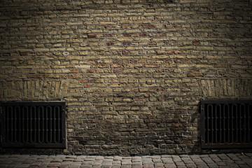 Hintergrund historische  Backsteinwand