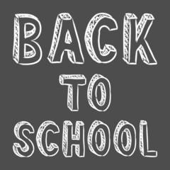 vector handwritten back to school sign