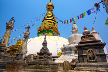 Swayambhunath temple in Kathmandu, Nepal