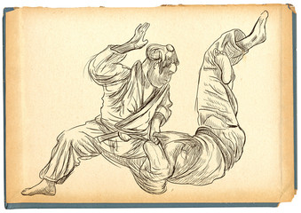 Judo - an full sized hand drawn illustration