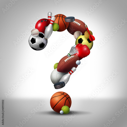 Wall mural Sports Question
