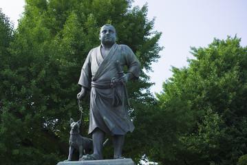 上野公園・西郷隆盛象-496