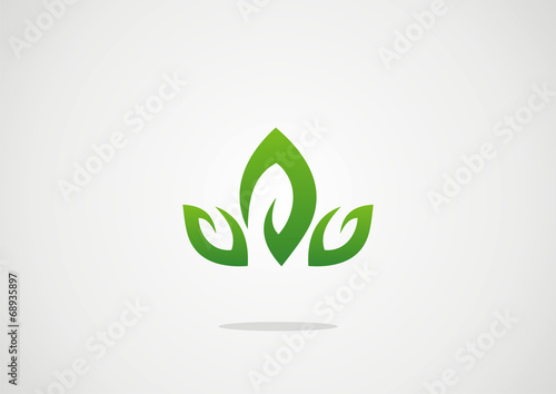 Lotus Flower Abstract Vector Logo Design 3 Leaf Stock Image And