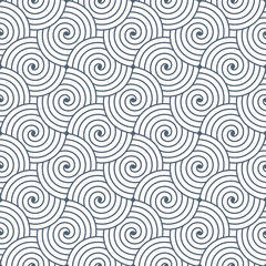 Seamless repetitive vector curvy waves pattern background