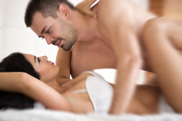 Passion couple in bedroom