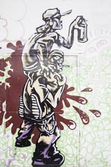 Graffiti spray painting