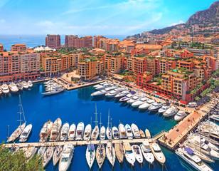 View over Monaco harbour, Cote d'Azur
