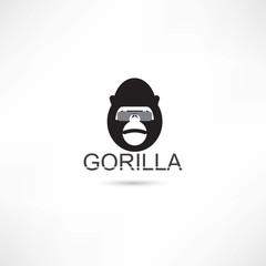 Gorilla in eyeglasses