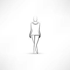 Model in a white dress