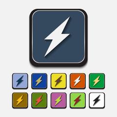 Stylish colored icons, lightning