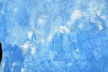 Textur - Blaue Hausfassade