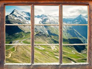 Wall Mural - Fensterblick Großglockner