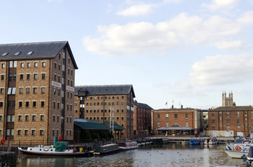 Gloucester Docks on a Sunny Summers Day