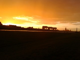 Sonnenuntergang am 12.08.2014 in Köln