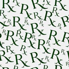 Green and White Prescription symbol Pattern Repeat Background