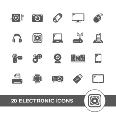 Electronic icons set.