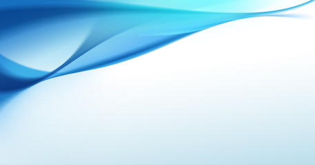 Abstract blue smooth wave background (Modern and minimal design)