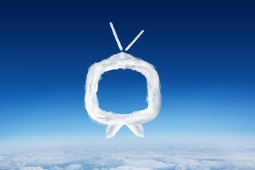 Composite image of cloud tv