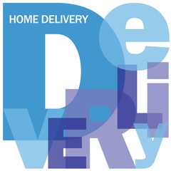 HOME DELIVERY Letter Collage (buy now shop store online)