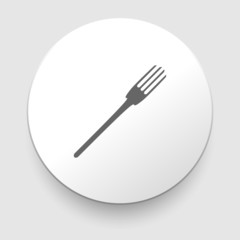 fork vector icon on white background