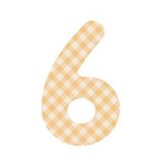 Orange squares pattern number six