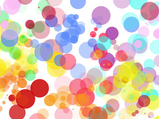 Colorful abstract background on a white background