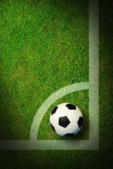 Soccer football field at football stadium