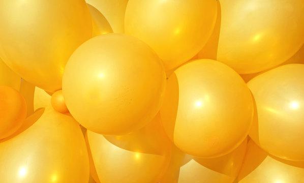 Yellow balloons background