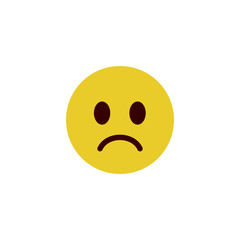 Sad flat emoji