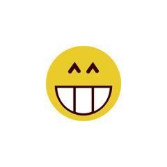 Smiling flat emoji
