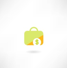 suitcase with dollar icon