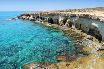 Photo sur Aluminium Chypre Cyprus - Mediterranean sea Sea Caves near Ayia Napa