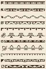 Ornate art border set