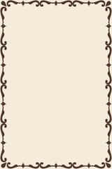 Victorian old frame