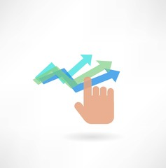 hand and graph icon
