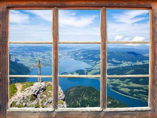Wall Mural - Fensterblick Schafberg