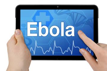 Tablet mit Interface und Ebola