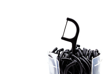 Dental floss isolated white background
