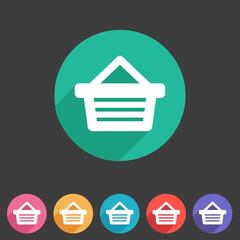 Shopping basket flat icon