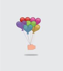 Heart-shaped ballons as a gift